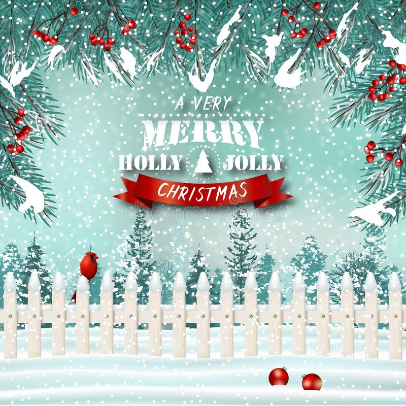 Υπόβαθρο διακοπών Χριστουγέννων με τους βασικών και κομψών κλάδους φρακτών τσεπών, ελεύθερη απεικόνιση δικαιώματος