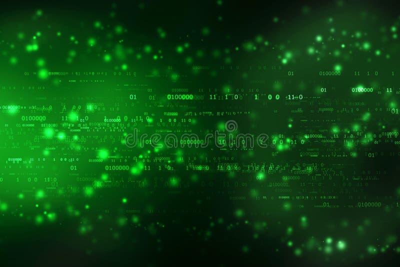 Υπόβαθρο δυαδικού κώδικα, ψηφιακό αφηρημένο υπόβαθρο τεχνολογίας διανυσματική απεικόνιση