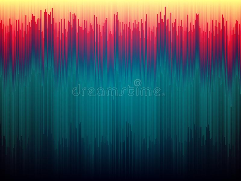 Υπόβαθρο δυσλειτουργίας Διαστρέβλωση στοιχείων εικόνας Αφηρημένη έννοια γραμμών χρώματος Κάθετα λωρίδες Glitched Μορφές κλίσης διανυσματική απεικόνιση