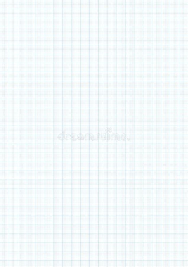 Υπόβαθρο εγγράφου γραφικών παραστάσεων με τη διανυσματική μπλε γραμμή οδηγών κυβερνητών χιλιοστόμετρου χάραξης διανυσματική απεικόνιση