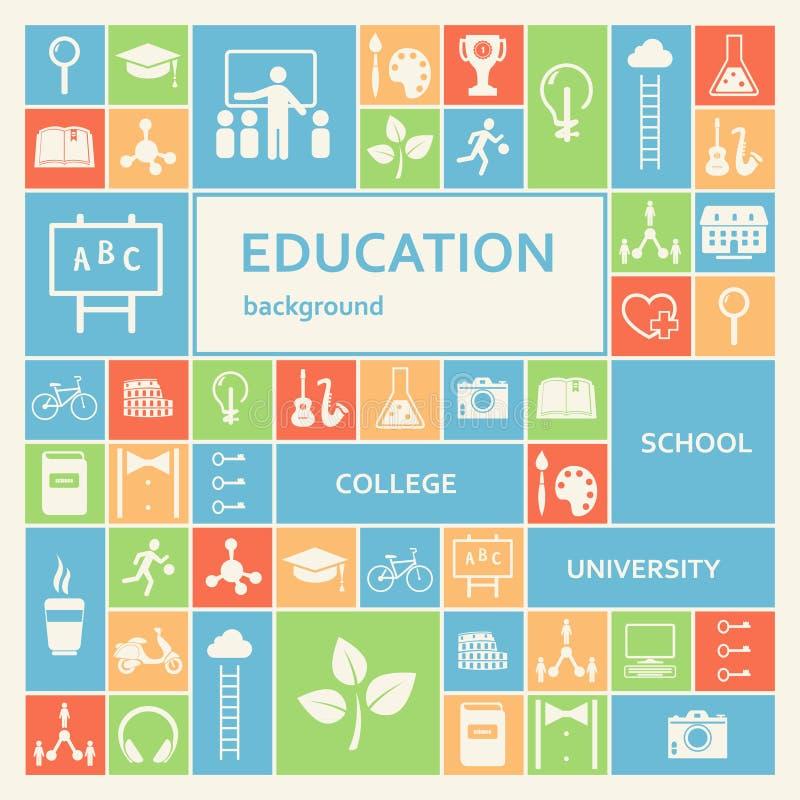 Υπόβαθρο εκπαίδευσης και εκμάθησης ελεύθερη απεικόνιση δικαιώματος