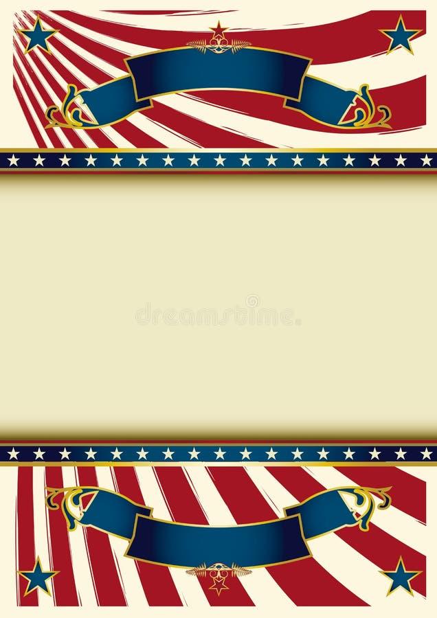 Υπόβαθρο εκλεκτής ποιότητας ΗΠΑ διανυσματική απεικόνιση