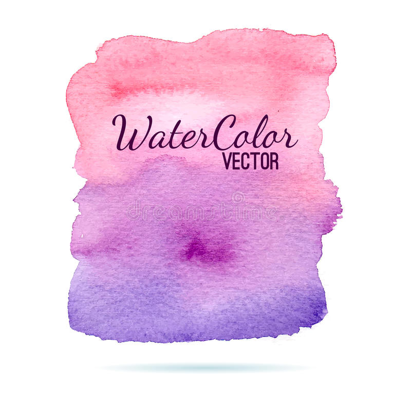Υπόβαθρο εμβλημάτων Watercolor για τις συστάσεις διανυσματική απεικόνιση