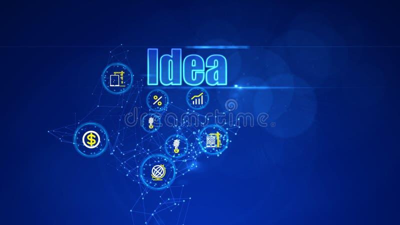 Υπόβαθρο επένδυσης με τις επιχειρησιακές ιδέες ελεύθερη απεικόνιση δικαιώματος