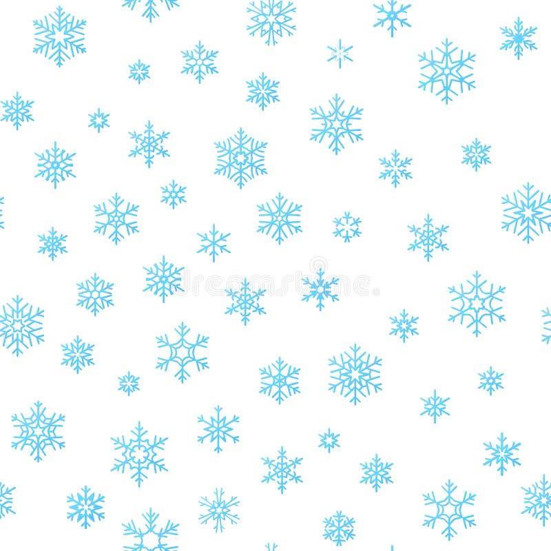 Υπόβαθρο επίδρασης διακοσμήσεων διακοπών Χαρούμενα Χριστούγεννας Μπλε snowflake άνευ ραφής πρότυπο σχεδίων 10 eps ελεύθερη απεικόνιση δικαιώματος