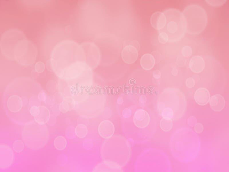 Υπόβαθρο επίδρασης θαμπάδων bokeh ανοικτό ροζ