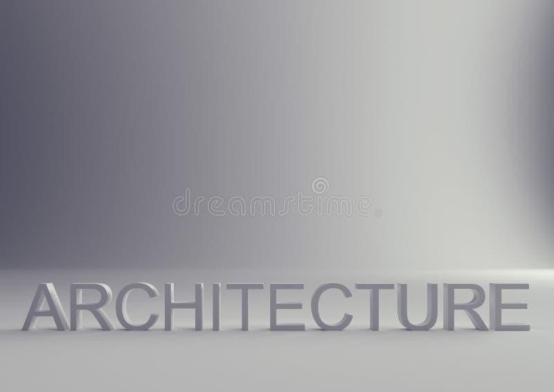 Υπόβαθρο επιστολών κειμένων αρχιτεκτονικής διανυσματική απεικόνιση