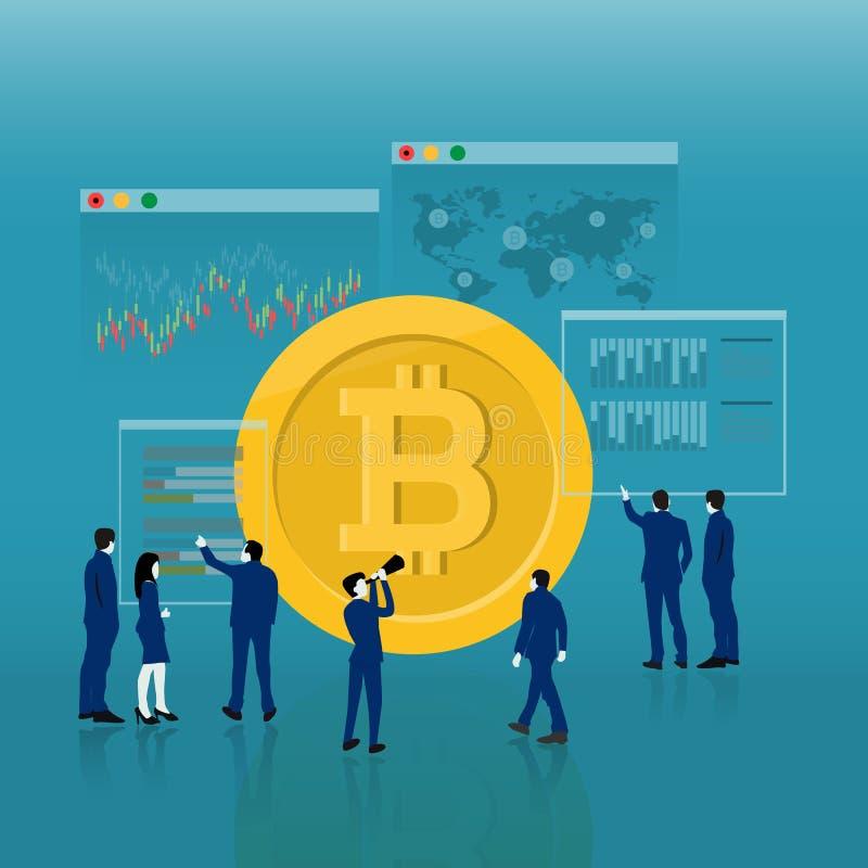 υπόβαθρο επιχειρησιακού cryptocurrency, διάνυσμα ελεύθερη απεικόνιση δικαιώματος