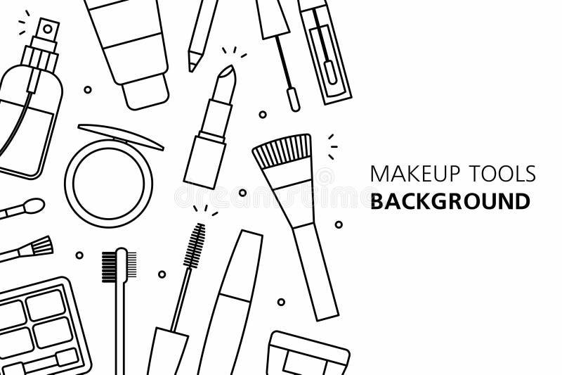 Υπόβαθρο εργαλείων Makeup ελεύθερη απεικόνιση δικαιώματος