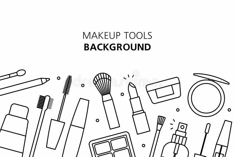 Υπόβαθρο εργαλείων Makeup απεικόνιση αποθεμάτων