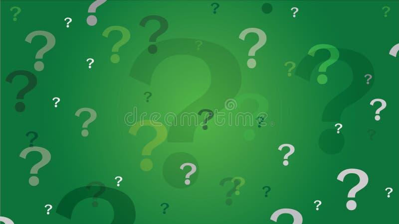 Υπόβαθρο ερωτηματικών - πράσινο ελεύθερη απεικόνιση δικαιώματος
