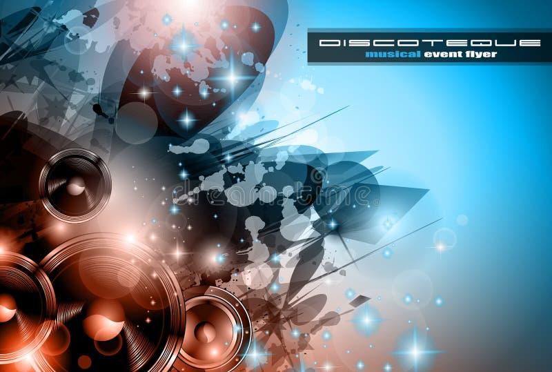 Υπόβαθρο λεσχών μουσικής για τις αφίσες χορού disco ελεύθερη απεικόνιση δικαιώματος