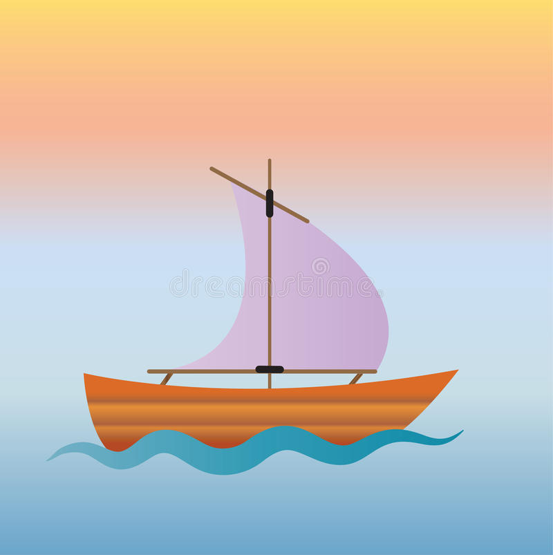 Υπόβαθρο ζωηρόχρωμο sailboat στοκ εικόνες