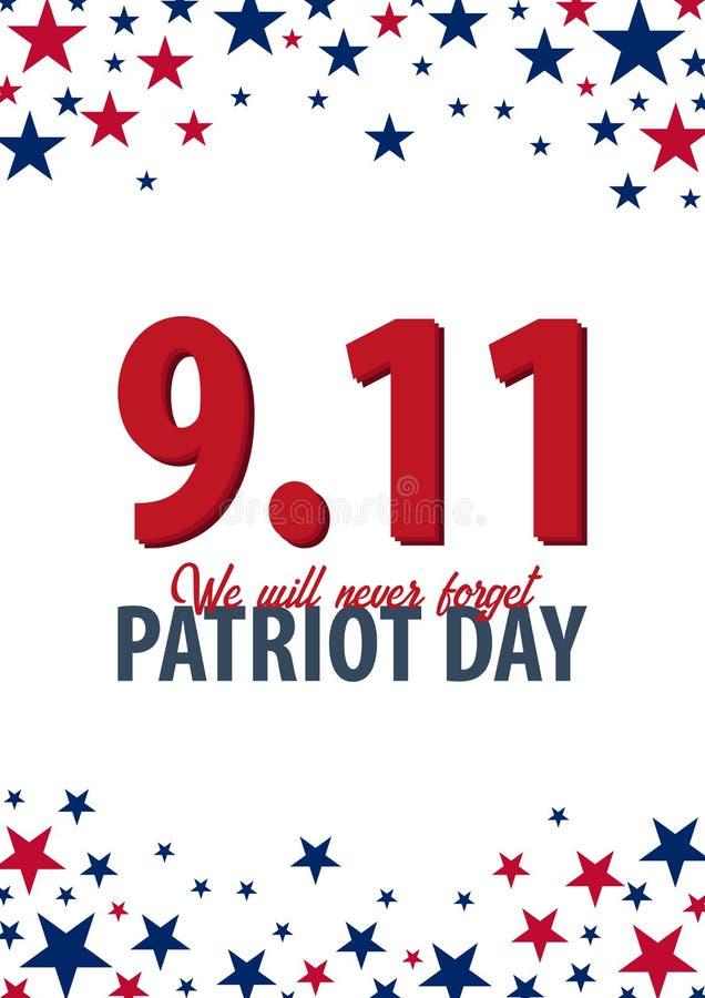 Υπόβαθρο ημέρας πατριωτών 11 Σεπτεμβρίου Δεν θα ξεχάσουμε ποτέ απεικόνιση αποθεμάτων