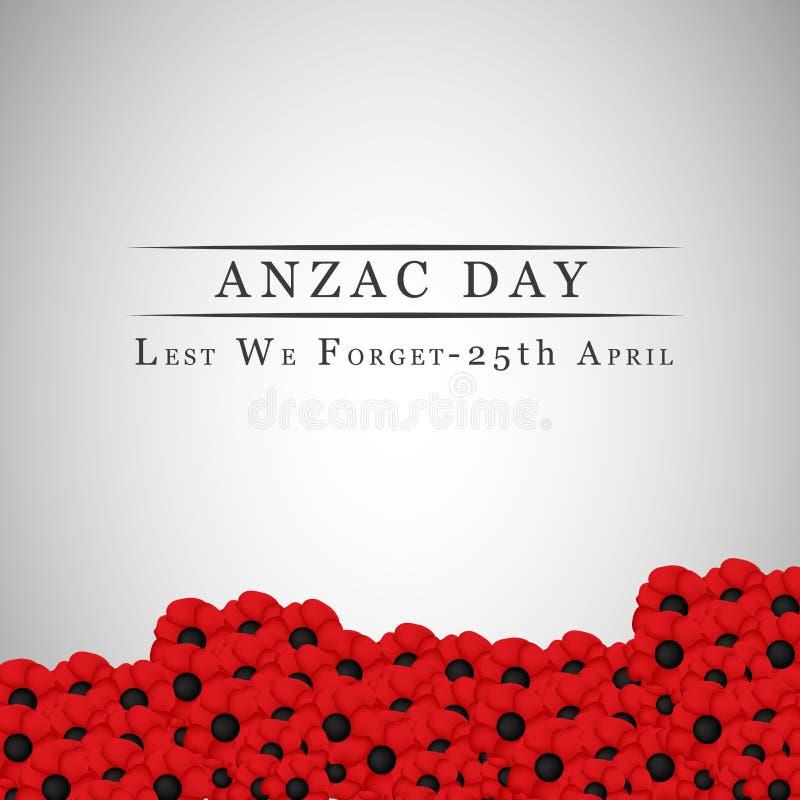Υπόβαθρο ημέρας Anzac απεικόνιση αποθεμάτων