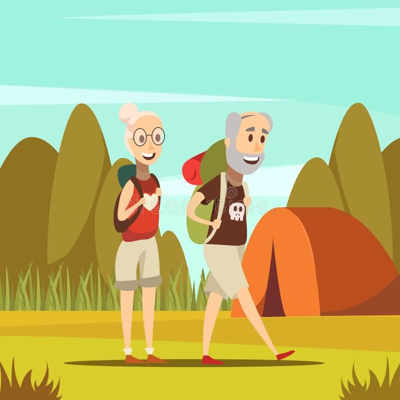 Υπόβαθρο ηλικιωμένων ανθρώπων απεικόνιση αποθεμάτων