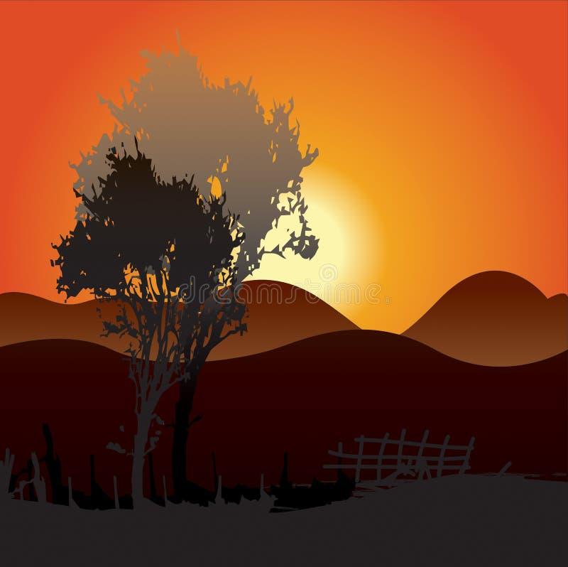 Υπόβαθρο ηλιοβασιλέματος στοκ φωτογραφία