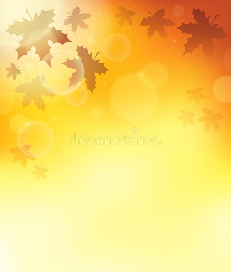 Υπόβαθρο 3 θέματος φθινοπώρου διανυσματική απεικόνιση
