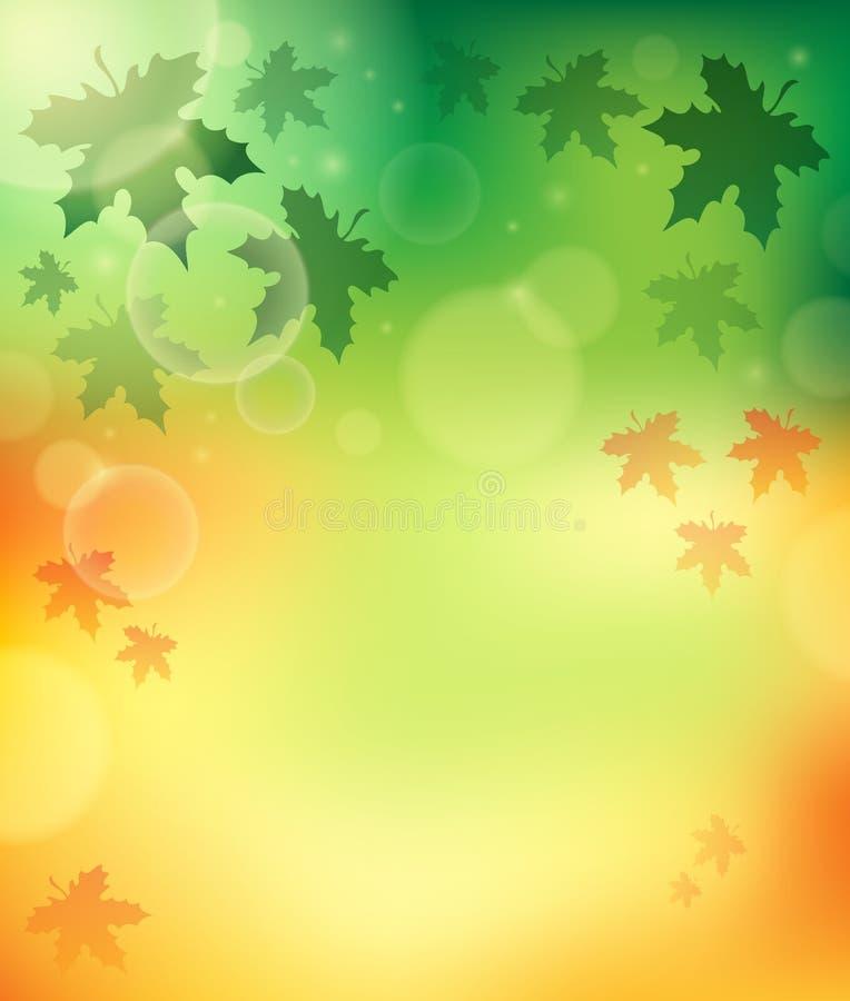 Υπόβαθρο 4 θέματος φθινοπώρου διανυσματική απεικόνιση