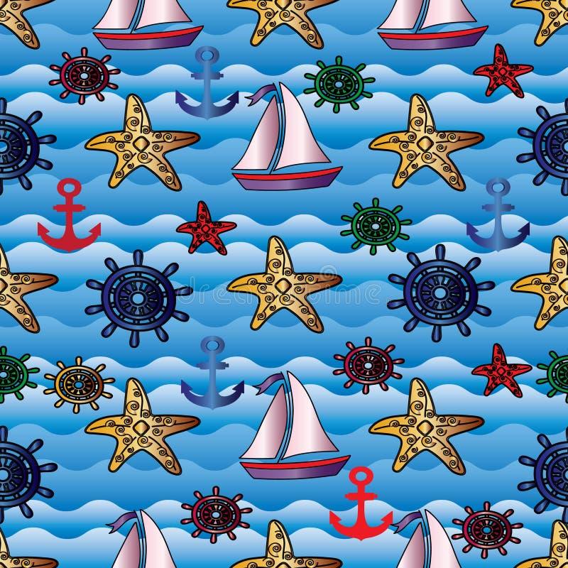 Υπόβαθρο θερινής θάλασσας διανυσματική απεικόνιση