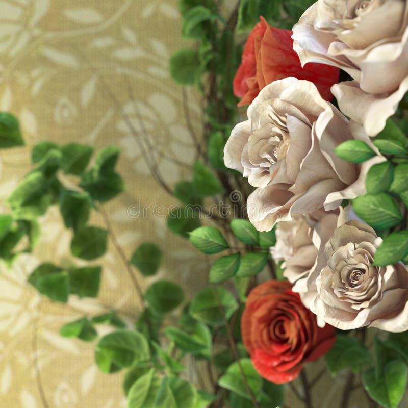υπόβαθρο διακοπών λουλουδιών και εγκαταστάσεων στοκ εικόνες με δικαίωμα ελεύθερης χρήσης