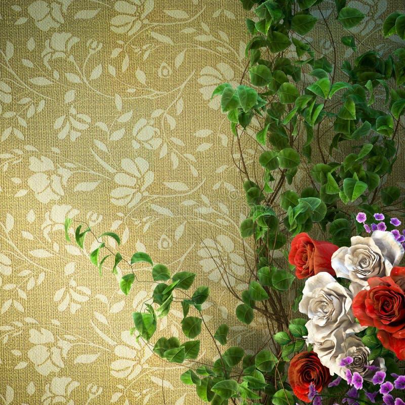 υπόβαθρο διακοπών λουλουδιών και εγκαταστάσεων στοκ εικόνες