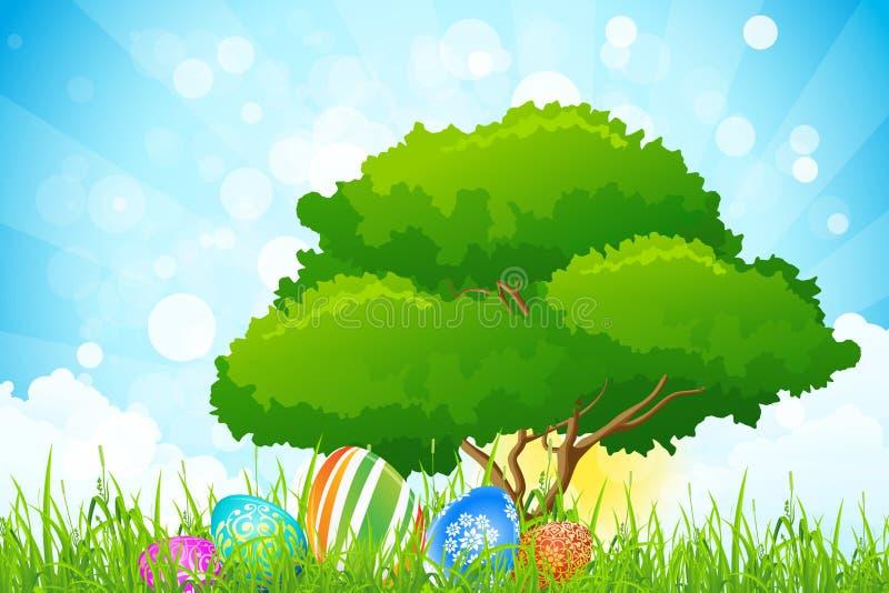Υπόβαθρο διακοπών Πάσχας ελεύθερη απεικόνιση δικαιώματος