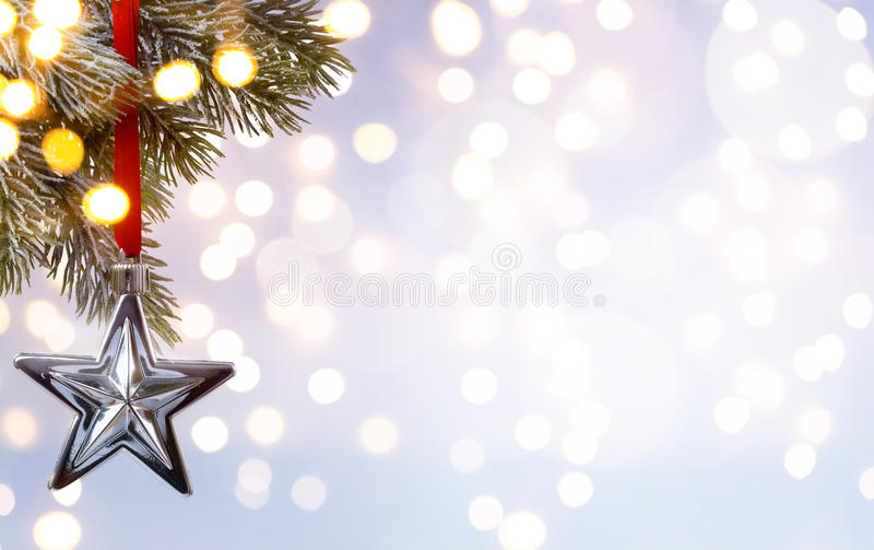 Υπόβαθρο διακοπών Χριστουγέννων τέχνης  φως δέντρων στοκ εικόνα
