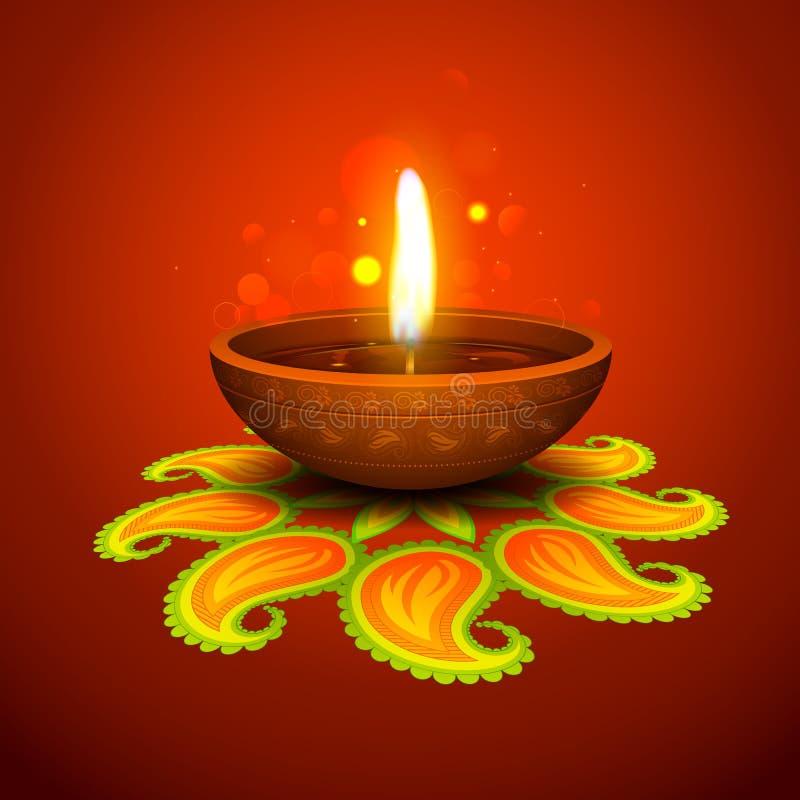Υπόβαθρο διακοπών Diwali απεικόνιση αποθεμάτων