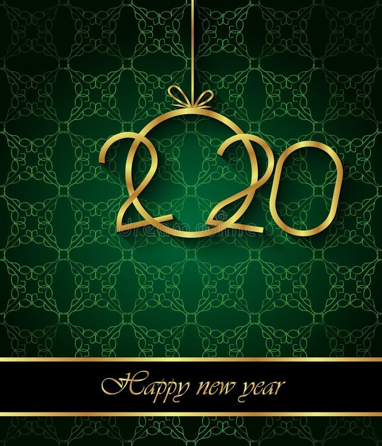 2020 υπόβαθρο καλής χρονιάς για τις εποχιακές προσκλήσεις σας, εορταστικές αφίσες, κάρτες χαιρετισμών απεικόνιση αποθεμάτων
