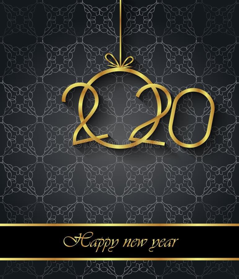 2020 υπόβαθρο καλής χρονιάς για τις εποχιακές προσκλήσεις σας, εορταστικές αφίσες, κάρτες χαιρετισμών ελεύθερη απεικόνιση δικαιώματος