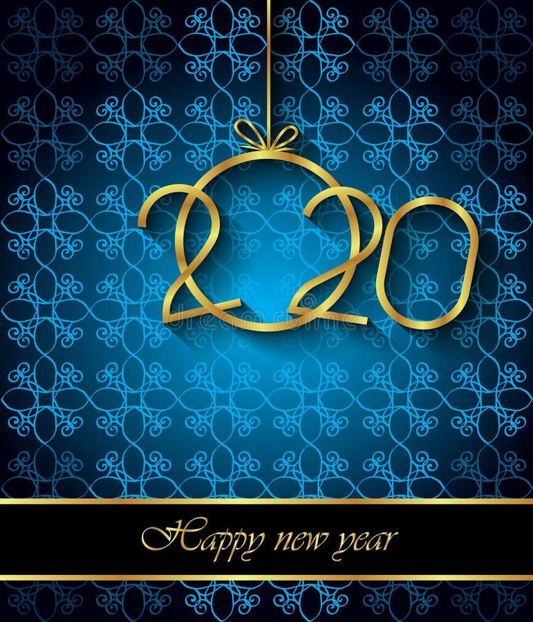 2020 υπόβαθρο καλής χρονιάς για τις εποχιακές προσκλήσεις σας, εορταστικές αφίσες, κάρτες χαιρετισμών διανυσματική απεικόνιση