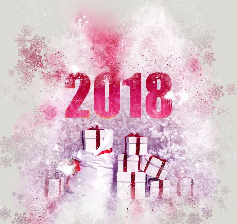 2018 υπόβαθρο καλής χρονιάς στοκ φωτογραφία με δικαίωμα ελεύθερης χρήσης