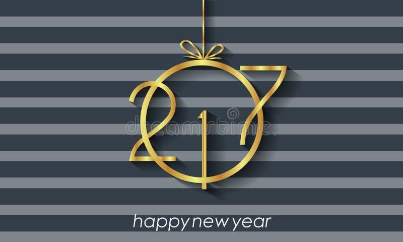 2017 υπόβαθρο καλής χρονιάς για τις προσκλήσεις, εορταστικές αφίσες διανυσματική απεικόνιση