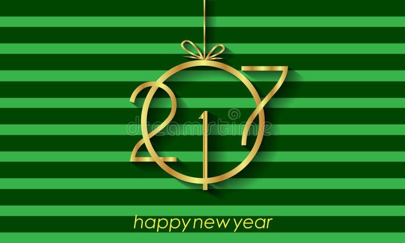 2017 υπόβαθρο καλής χρονιάς για τις προσκλήσεις, εορταστικές αφίσες απεικόνιση αποθεμάτων
