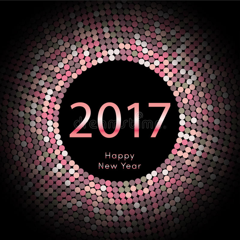 Υπόβαθρο καλής χρονιάς 2017 Ημερολογιακή διακόσμηση χαιρετισμός καλή χρονιά καρτών του 2007 Κινεζικό ημερολογιακό πρότυπο για το  ελεύθερη απεικόνιση δικαιώματος