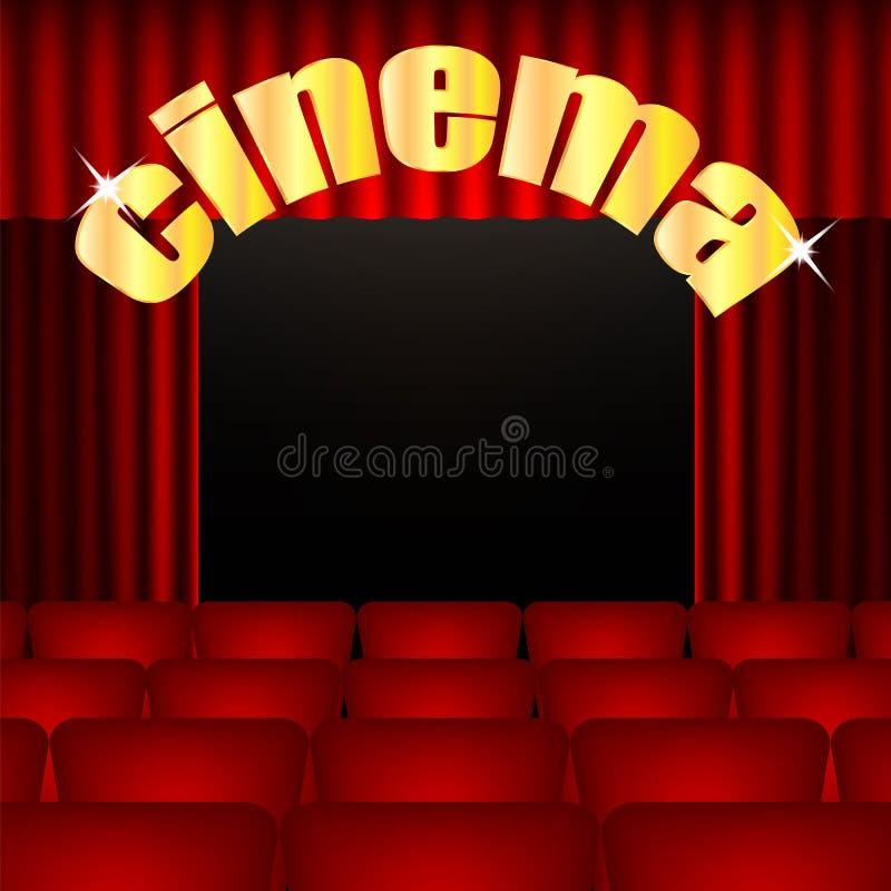 Υπόβαθρο κινηματογράφων διανυσματική απεικόνιση