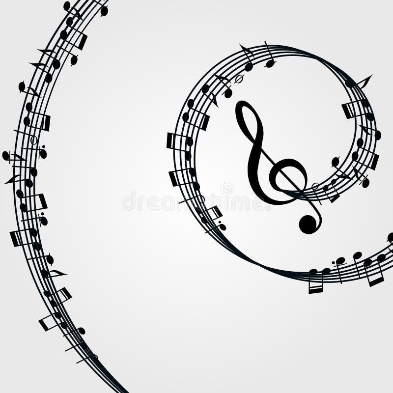 Υπόβαθρο κυμάτων μουσικής: μελωδία, σημειώσεις, κλειδί ελεύθερη απεικόνιση δικαιώματος