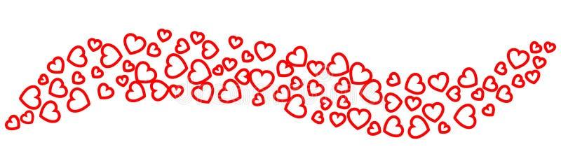 Υπόβαθρο κυμάτων των καρδιών - διάνυσμα απεικόνιση αποθεμάτων