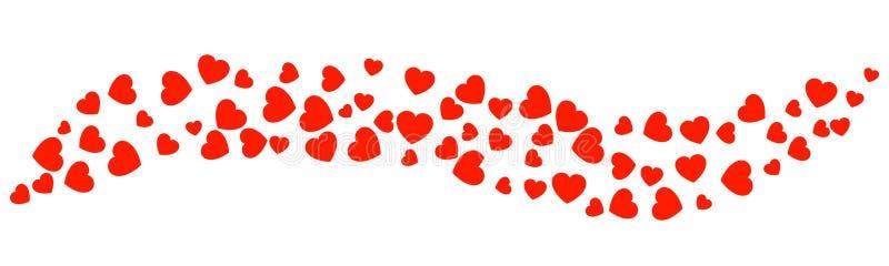 Υπόβαθρο κυμάτων των καρδιών διανυσματική απεικόνιση