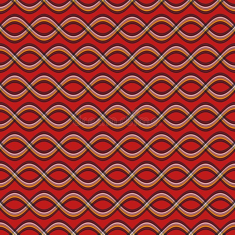 Υπόβαθρο κυμάτων χρώματος διανυσματική απεικόνιση