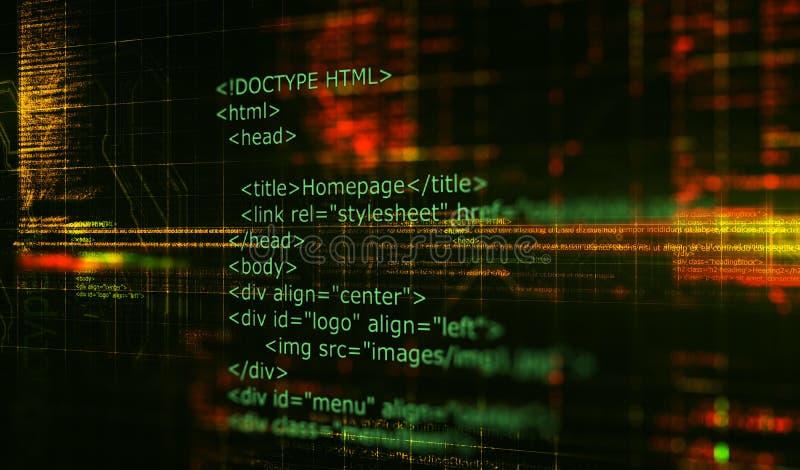 Υπόβαθρο λογισμικού προγραμματισμού κώδικα HTML τρισδιάστατος δώστε στοκ φωτογραφία με δικαίωμα ελεύθερης χρήσης