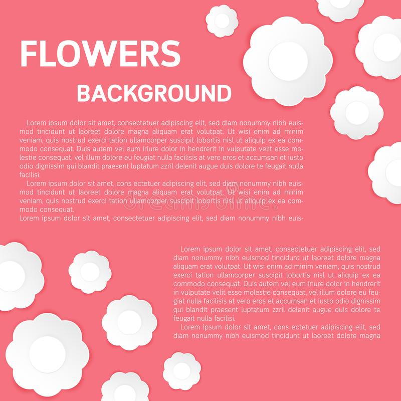 Υπόβαθρο λουλουδιών τέχνης εγγράφου Το έγγραφο λουλουδιών έκοψε το ύφος απεικόνιση αποθεμάτων