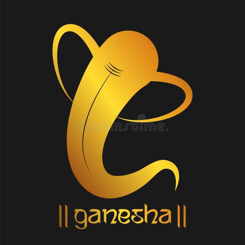Υπόβαθρο Λόρδου Ganesha για το φεστιβάλ Ganesh Chaturthi της Ινδίας απεικόνιση αποθεμάτων