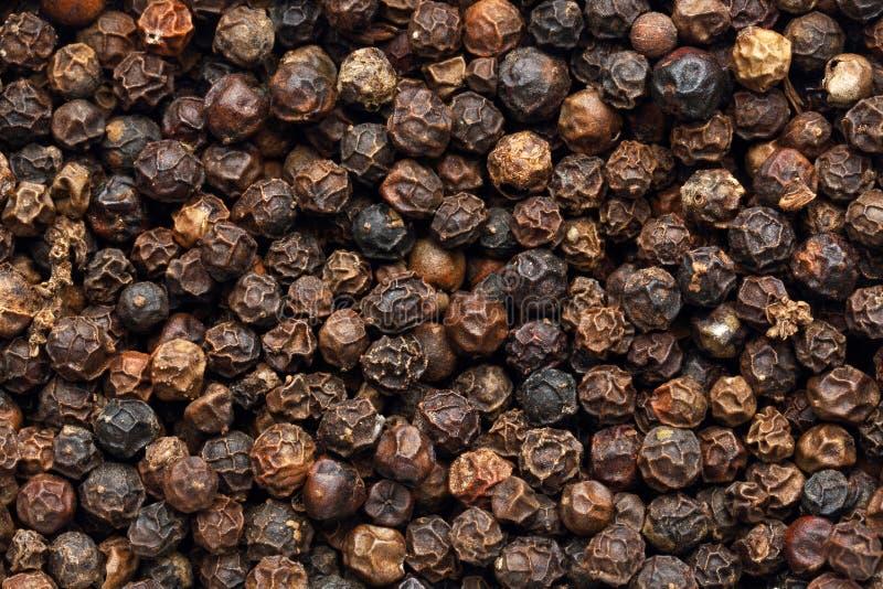 Υπόβαθρο μαύρο peppercorn στοκ φωτογραφία