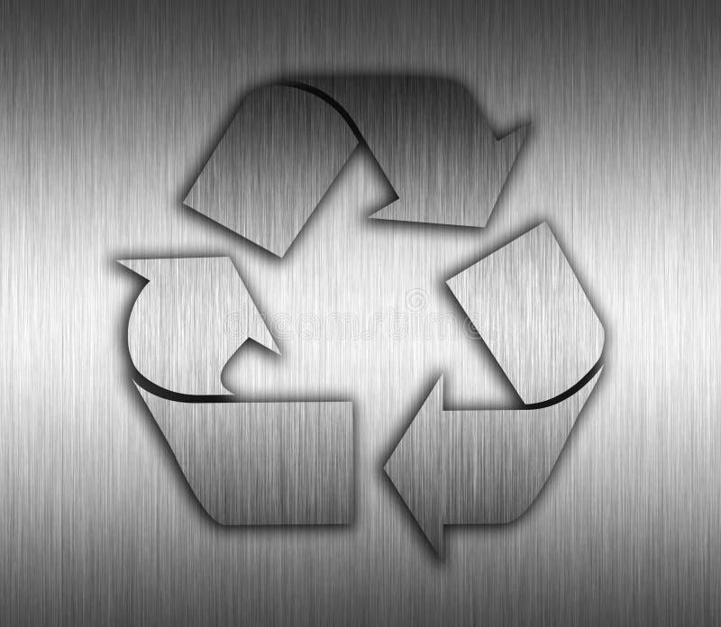 Υπόβαθρο μετάλλων ανακύκλωσης διανυσματική απεικόνιση