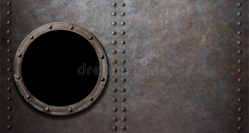 Υπόβαθρο μετάλλων παραφωτίδων υποβρυχίων ή θωρηκτών στοκ φωτογραφίες με δικαίωμα ελεύθερης χρήσης