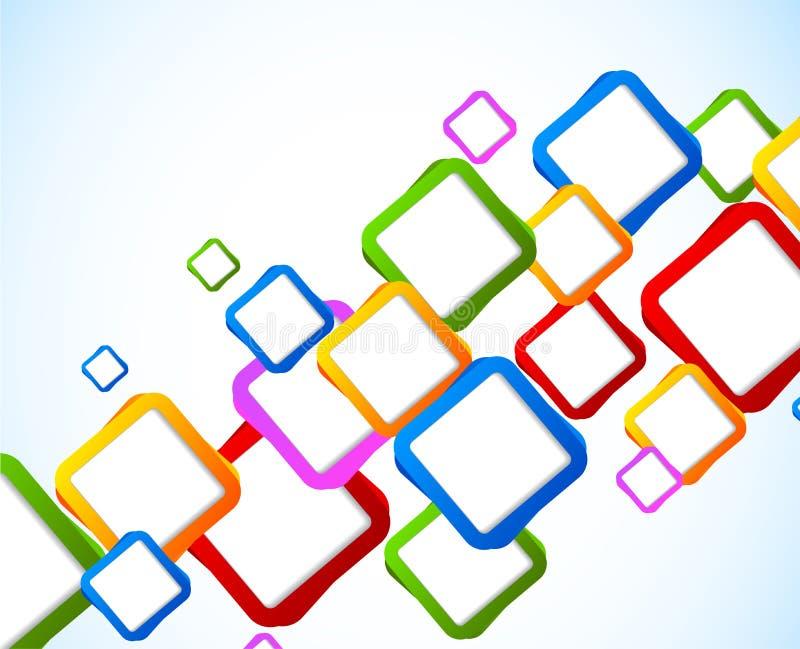 Υπόβαθρο με τα ζωηρόχρωμα τετράγωνα ελεύθερη απεικόνιση δικαιώματος