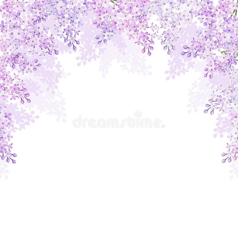 Υπόβαθρο με τα ιώδη λουλούδια επίσης corel σύρετε το διάνυσμα απεικόνισης απεικόνιση αποθεμάτων