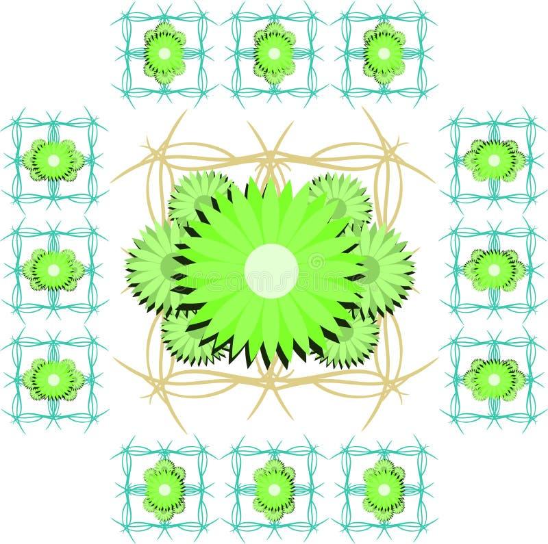 Υπόβαθρο με τα καλλιτεχνικά λουλούδια διανυσματική απεικόνιση